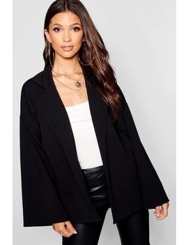 Collar Detail Relaxed Duster by Boohoo