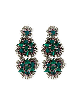 Anastasia Crystal Clip On Earrings by Mignonne Gavigan