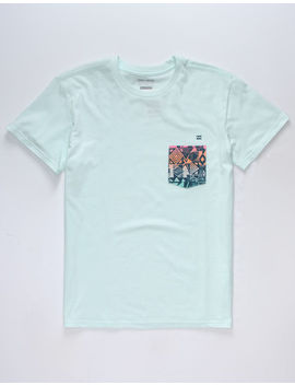 Billabong Team Sky Blue Boys Pocket Tee by Billabong