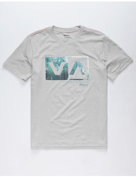 Rvca Reflection Box Gray Boys T Shirt by Rvca