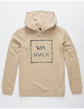 Rvca Fill All The Way Kahki Boys Hoodie by Rvca