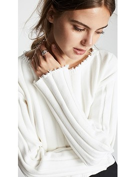 Raw Edge Off Shoulder Pullover by Alexanderwang.T