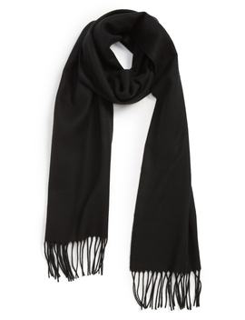 Solid Fringed Scarf by The Rail