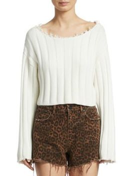 Raw Edge Cropped Sweater by Alexanderwang.T