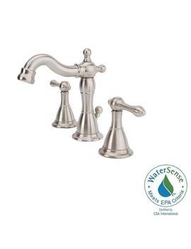 Bellver 8 In. Widespread 2 Handle Mid Arc Bathroom Faucet In Brushed Nickel by Fontaine