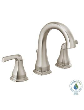 Portwood 8 In. Widespread 2 Handle Bathroom Faucet In Spot Shield Brushed Nickel by Delta