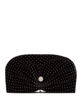 Vivien Embellished Velvet Clutch Bag by Jimmy Choo