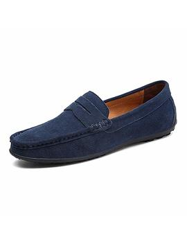 Vilocy Men's Casual Suede Slip On Driving Moccasins Penny Loafers Flat Boat Shoes by Vilocy
