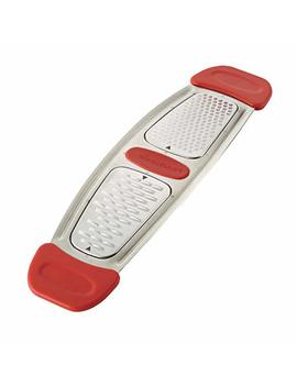 Rachael Ray 46914 Stainless Steel Multi Grater With Silicone Handle, Small, Red by Rachael Ray