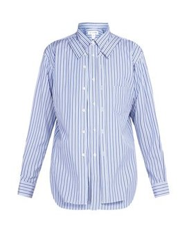 Double Layer Striped Cotton Shirt by Comme Des Garçons Shirt
