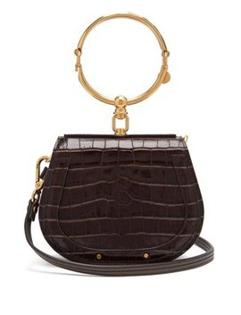 Nile Small Crocodile Effect Leather Cross Body Bag by Chloé