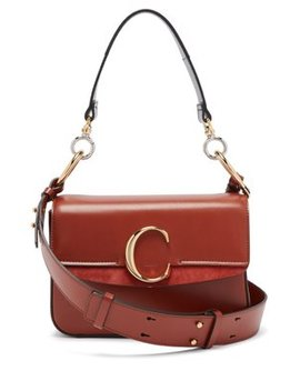 The Chloé Leather And Suede Shoulder Bag by Chloé