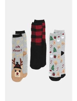 Reindeer Crew Socks by Ardene
