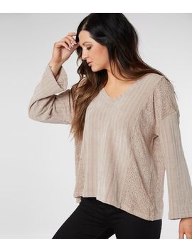 Ribbed Chenille Sweater by Miss Me