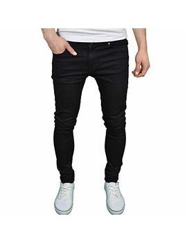 Enzo Mens Designer Super Stretch Skinny Fit Jeans by Enzo