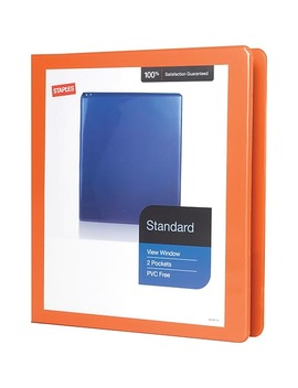 "Staples Standard 1"" 3 Ring View Binder, Orange (26436 Cc) by Staples"