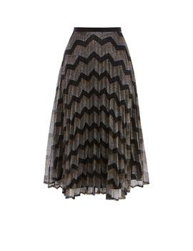 Metallic Zig Zag Midi Skirt by Sd068 Td122 Kd196 Sd045 Td106 Sd069 Kd178