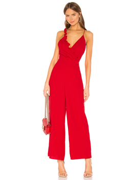 Forget You Jumpsuit In Cherry by Keepsake
