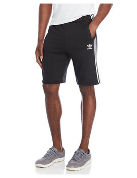 Black French Terry Essential Shorts by Adidas