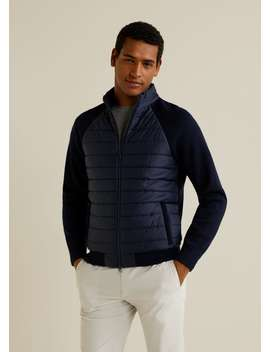 Quilted Panel Wool Jacket by Mango