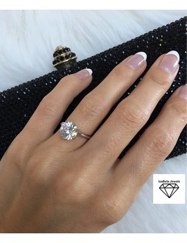 Grace Ring. High Shine 3 Carat Cubic Zirconia Stone And 925 Sterling Silver. Engagement Ring. Solitaire Ring. Promise Ring. Bridal Jewelry. by Etsy