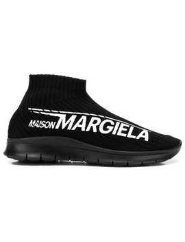 Logo Print Sock Sneakers by Maison Margiela