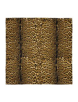 Black & Brown Leopard Scarf by Sasquatchfabrix.