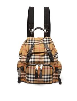 Vintage Check Mini Canvas Backpack by Burberry