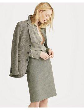 Houndstooth Tweed Pencil Skirt by Ralph Lauren