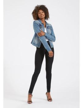 Tall Sofia Trucker Jacket by Alloy