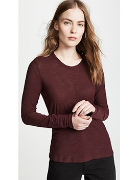 Sheer Slub Long Sleeve Tee by James Perse