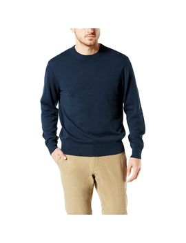 Men's Dockers® Classic Fit Solid Heathered Crewneck Sweater by Dockers