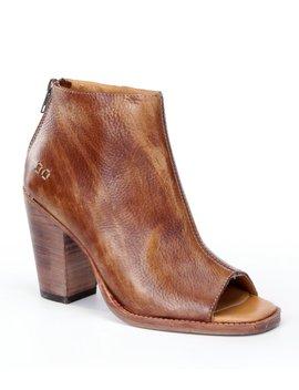 Onset Distressed Leather Peep Toe Block Heel Booties by Bed Stu