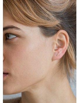 Shihara Diamond Post 101 Diamond/18 K Yellow Gold Earring by Garmentory