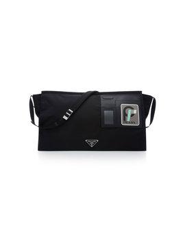 Saffaino Leather Patch Messenger Bag by Prada