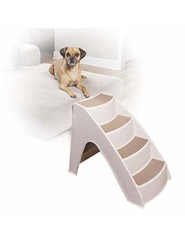 Pet Safe Solvit Pup Step Lite Pet Stairs, Steps For Dogs And Cats, Best For Small To Medium Pets, Non Fold Design by Solvit