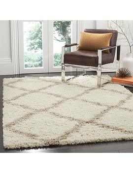 """Safavieh Dallas Shag Collection Sgd257 B Ivory And Beige Area Rug (5'1"""" X 7'6"""") by Safavieh"""