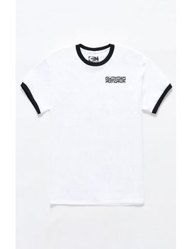 Cartoon Network Logo Ringer T Shirt by Pacsun