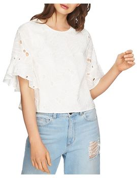 Embroidered Ruffle Sleeve Top by 1.State