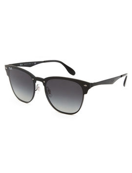 Ray Ban Clubmaster Blaze Black & Gray Gradient Sunglasses by Ray Ban