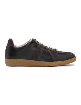 Black & Brown Replica Sneakers by Maison Margiela