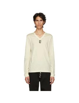 White Jarman Dog Tag T Shirt by Linder