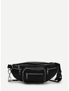 Studded Trim Bum Bag by Sheinside
