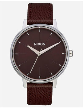 Nixon Kensington Leather Port Watch by Nixon