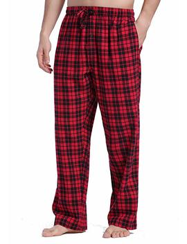 Cyz Men's 100 Percents Cotton Super Soft Flannel Plaid Pajama Pants by Cyz Collection