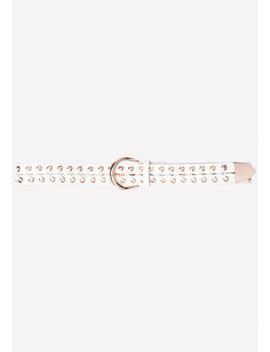 Laced Metal Grommet Belt by Bebe
