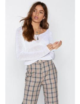 For The Heck Of Knit V Neck Sweater by Nasty Gal