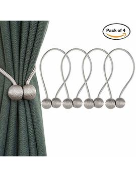 Apis Nest Magnetic Curtain Tiebacks Clips Classic European Window Treatment Holdbacks Home Office Decorative Drapes Holders Buckle With Strong Magnetic For Home Décor Clasp (Grey) by Apis Nest