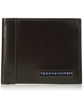 Tommy Hilfiger Men's Rfid Blocking 100% Leather Passcase Wallet by Tommy+Hilfiger