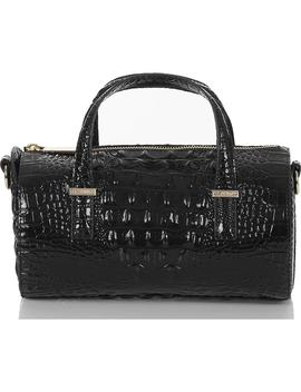 Claire Croc Embossed Leather Top Handle Bag by Brahmin